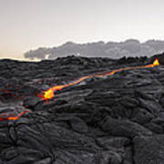 Kilauea Volcano 60 Foot Lava Flow - The Big Island Hawaii Art Print