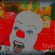 Killer Clowns In Fresco Art Print