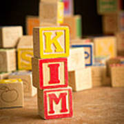 Kim - Alphabet Blocks Art Print