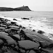 Kimmeridge Bay In Black And White Art Print