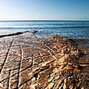 Kimmeridge Bay Seascape  Art Print