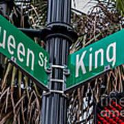 King And Queen Street Art Print