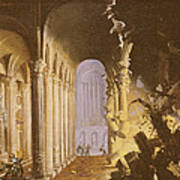 King Asa Of Judah Destroying The Statue Art Print by Francois de Nome