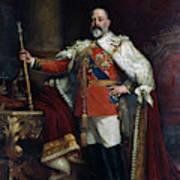 King Edward Vii Of England (1841-1910) Art Print