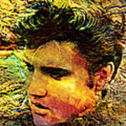 King Elvis Art Print