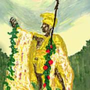 King Kamehameha Festival Art Print