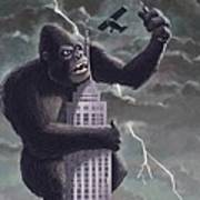 King Kong Plane Swatter Print by Martin Davey