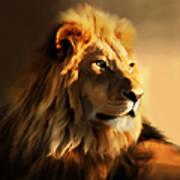 King Lion Of Africa Art Print