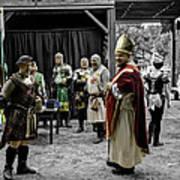 King Macbeth Of Scotland With The Bishop Art Print
