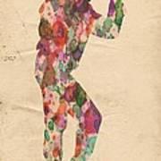 King Of Pop In Concert No 12 Art Print