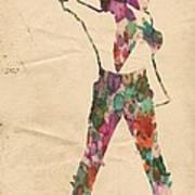 King Of Pop In Concert No 2 Art Print