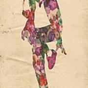 King Of Pop In Concert No 3 Art Print