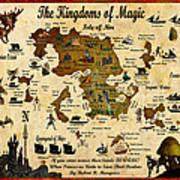 Kingdoms Of Magic Battle Map Art Print