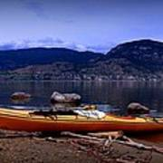 Kings Beach - Okanagan Lake - Kayaking Art Print