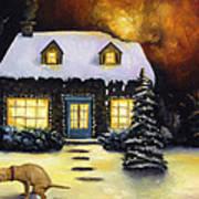 Kinkade's Worst Nightmare Art Print by Leah Saulnier The Painting Maniac