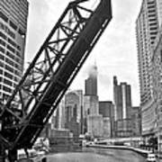 Kinzie Street Bridge Art Print
