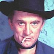Kirk Douglas In Man Without A Star Art Print by Art Cinema Gallery