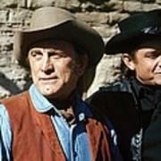 Kirk Douglas Johnny Cash A Gunfight  Old Tucson Arizona 1971 Art Print