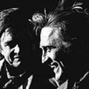 Kirk Douglas Laughing Johnny Cash Old Tucson Arizona 1971 Art Print