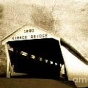Kirker Covered Bridge  35-01-10 Art Print