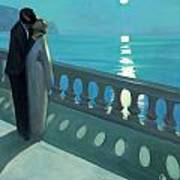 Kiss By Moonlight Art Print