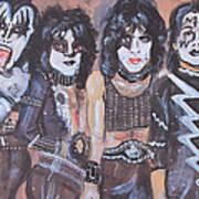 Kiss Rock Band Art Print
