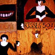 Kisses  - 50 Cents Art Print