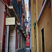 Kissing Lanes Seville Art Print