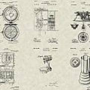 Kitchen Household Patent Collection Art Print