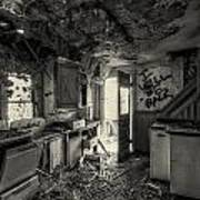 Kitchen In Decay Art Print