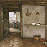 Kitchen Interior, C.1899 Art Print