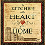 Kitchen Is The Heart Art Print