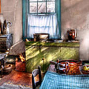 Kitchen - Old Fashioned Kitchen Art Print