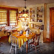 Kitchen - Typical Farm Kitchen  Print by Mike Savad