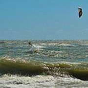 Kite Boarding Hatteras 3 8/24 Art Print