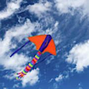 Kite Flying In Sky Art Print