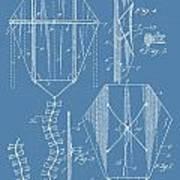 Kite Patent On Blue Art Print