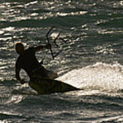 Kite Surfer 03 Art Print by Rick Piper Photography