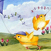Kites In March Art Print