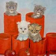 Kittens Ajar Art Print