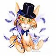 Kitticat Party Design Art Print