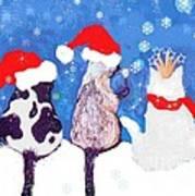 Kitty Christmas Art Print