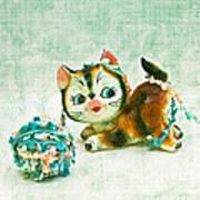 Kitty Mischief Art Print