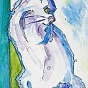 Kitty On Alert Art Print