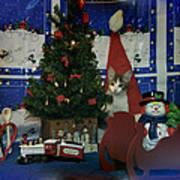 Kitty Says Merry Xmas Art Print