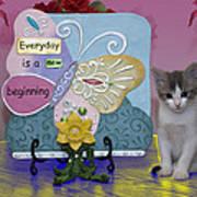 Kitty Says Wow Art Print