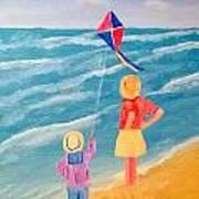 Kity Fly Art Print