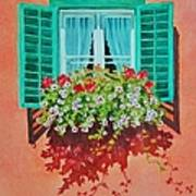 Kitzbuhel Window Art Print