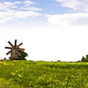 Kizhi Island Windmill Russia Art Print