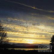 Klamath Lake Sunset Art Print